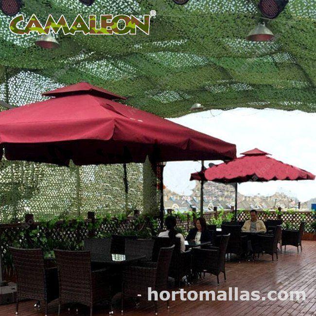 CAMALEON crea ambientes originales con la malla mimética en restaurantes, bares, antros.