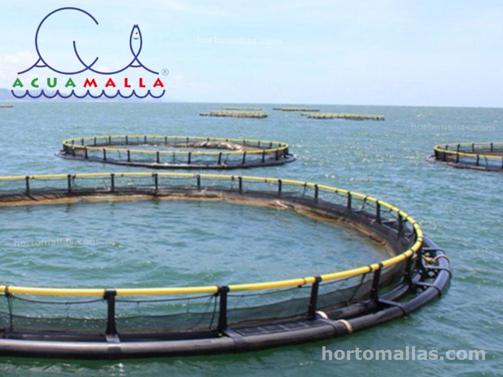 malla ACUAMALLA® en jaula flotante