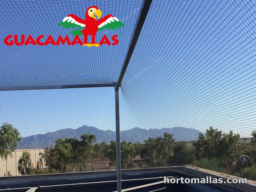 malla anti pájaros instalada en exteriores para evitar paso aves