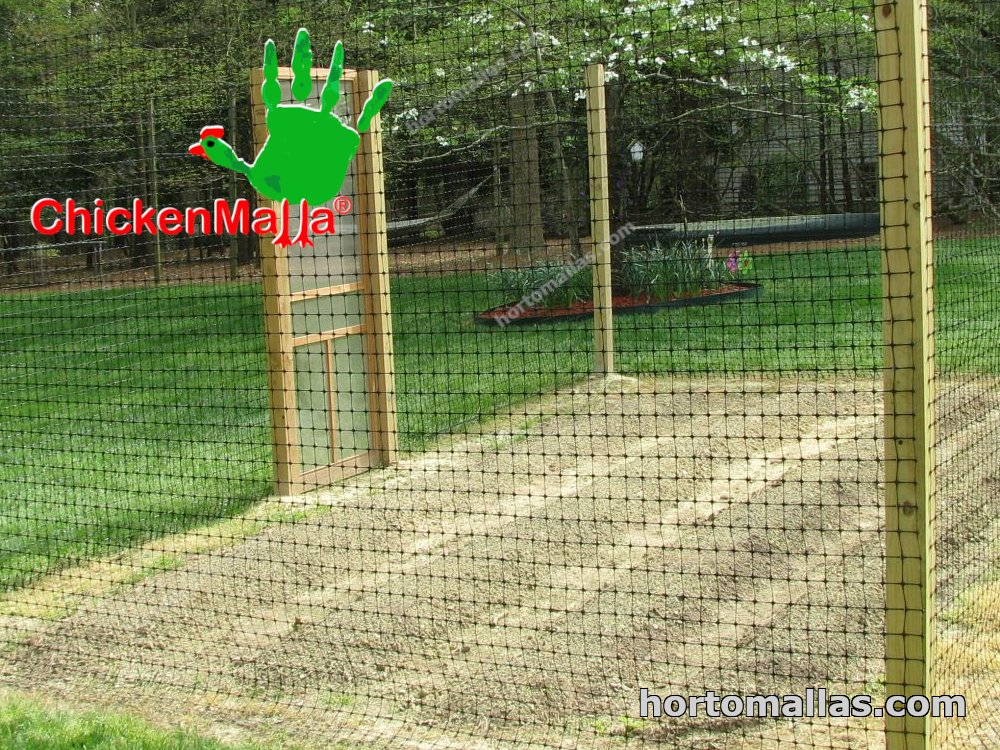 deer fence as another form of plant netting
