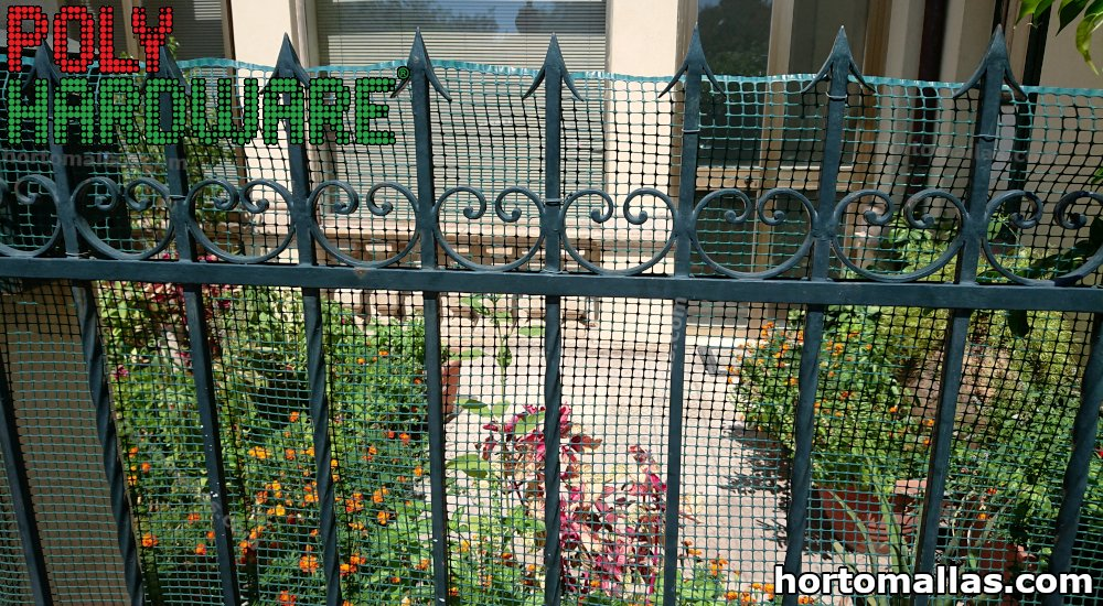 malla plástica para jardines