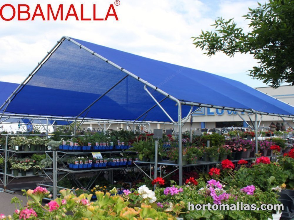 red sombreadora OBAMALLA® protegiendo flores