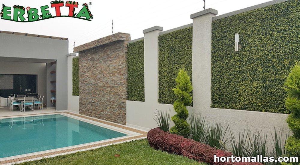 follaje artificial ERBETTA® en muro