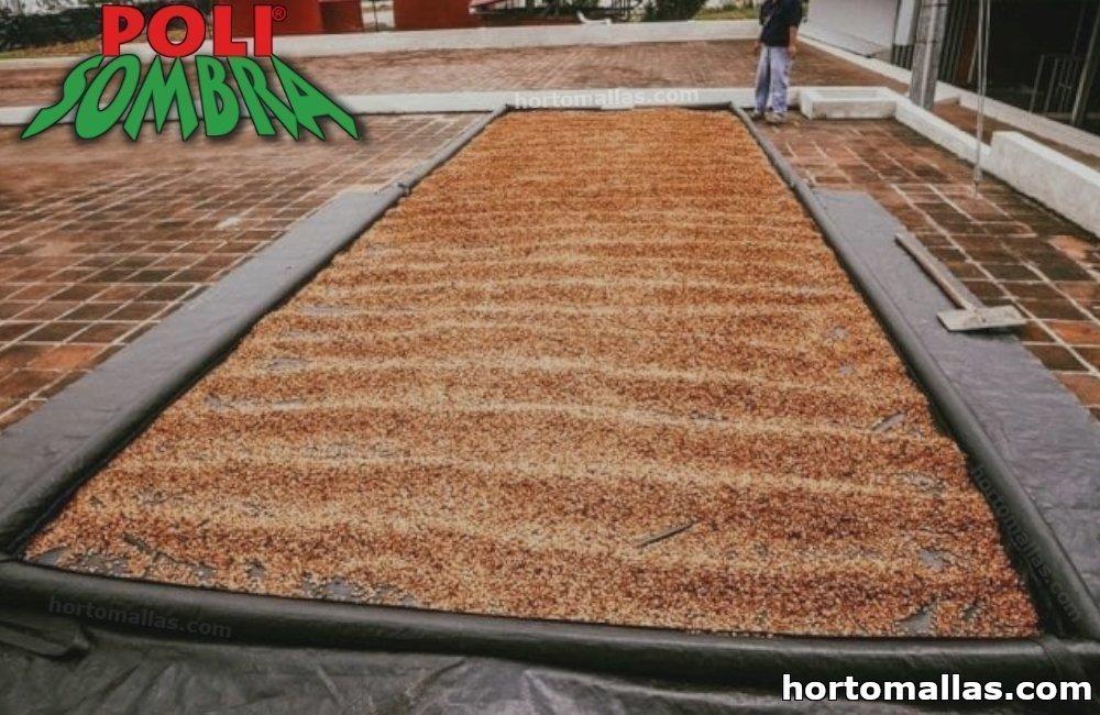 malla para cubrir el secado de café